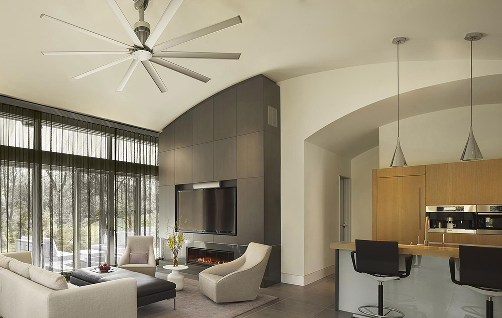 Kitchen living room open floor plan pictures with ceiling fan